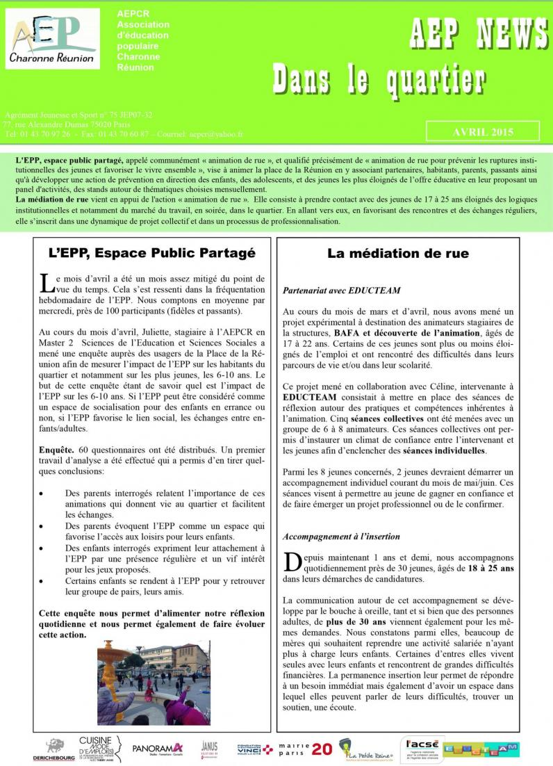 Aep news avril 2015 2