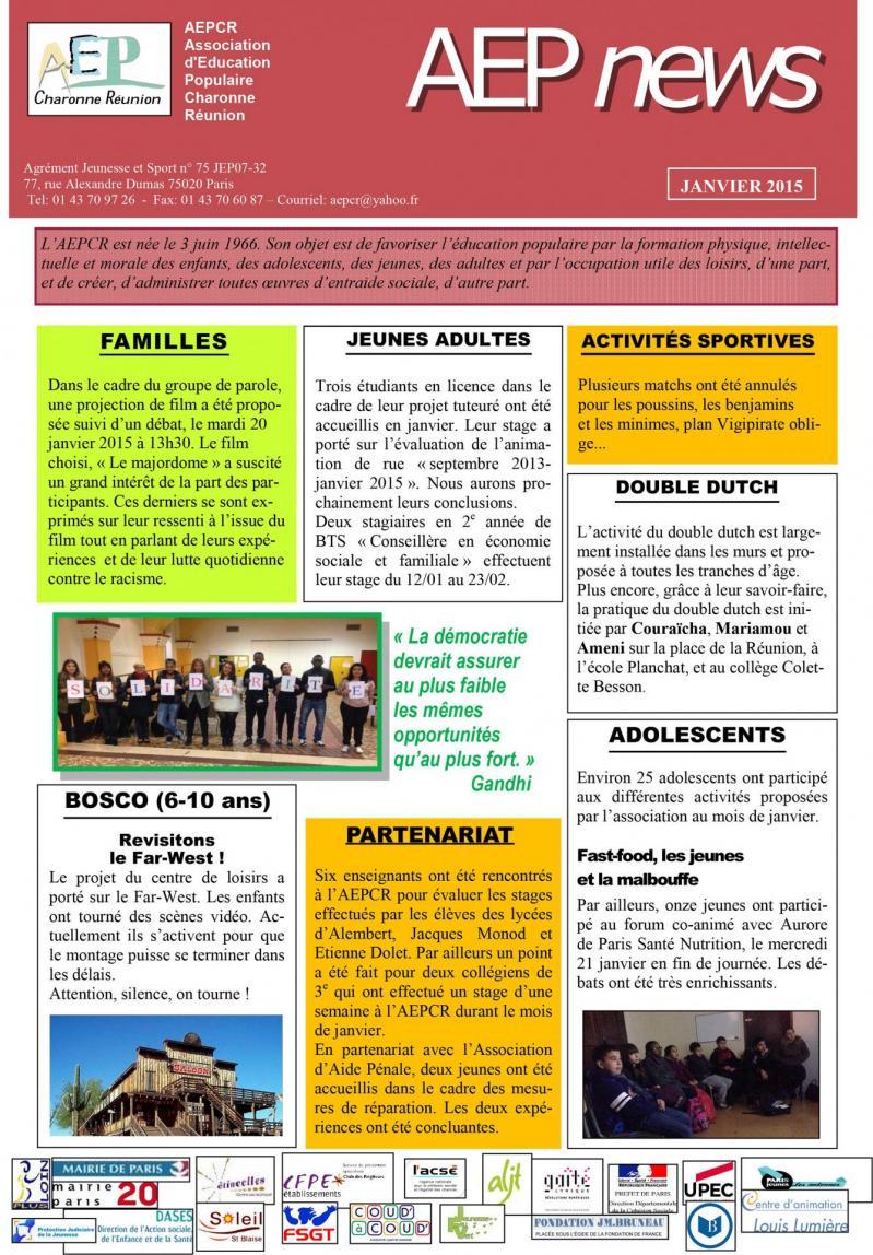 News janvier 2015 1